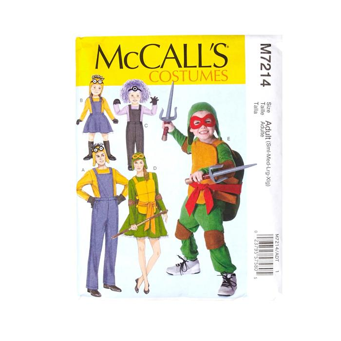McCall's Adult's Minions Costume Pattern M7214 (Sizes