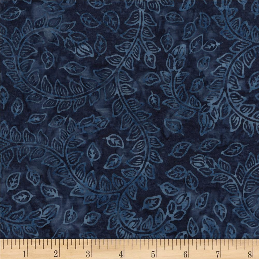 Timeless Treasures Tonga Batiks Bluegrass Vine Cadet
