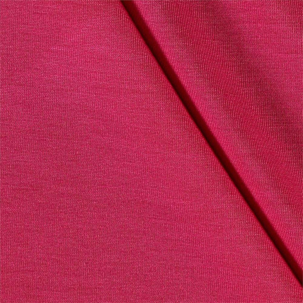 Rayon Jersey Knit Solid Hot Pink Fabric