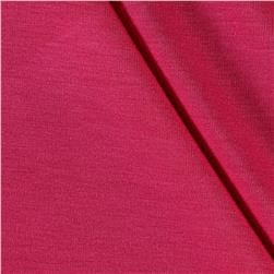 Rayon Jersey Knit Solid Hot Pink