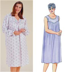 Kwik Sew Yoke Nightgowns Plus Size Pattern