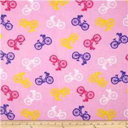 Comfy Flannel Bicycles Pink