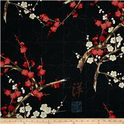 Alexander Henry Indochine Golden Garden Black Fabric