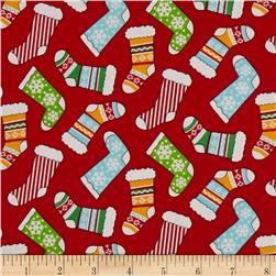 Santa Wonderland Stockings Red