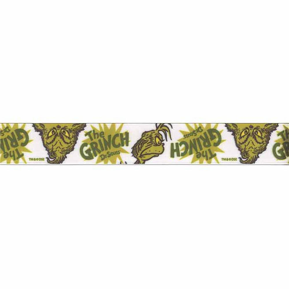 "7/8"" Dr. Seuss Grinch Ribbon Green"