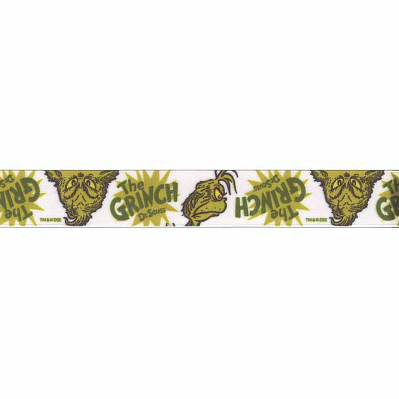 7/8'''' Dr. Seuss Grinch Ribbon Green
