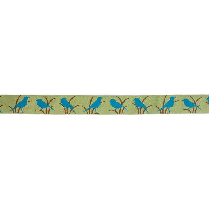7/8'' Ribbon Bird Blue/Green