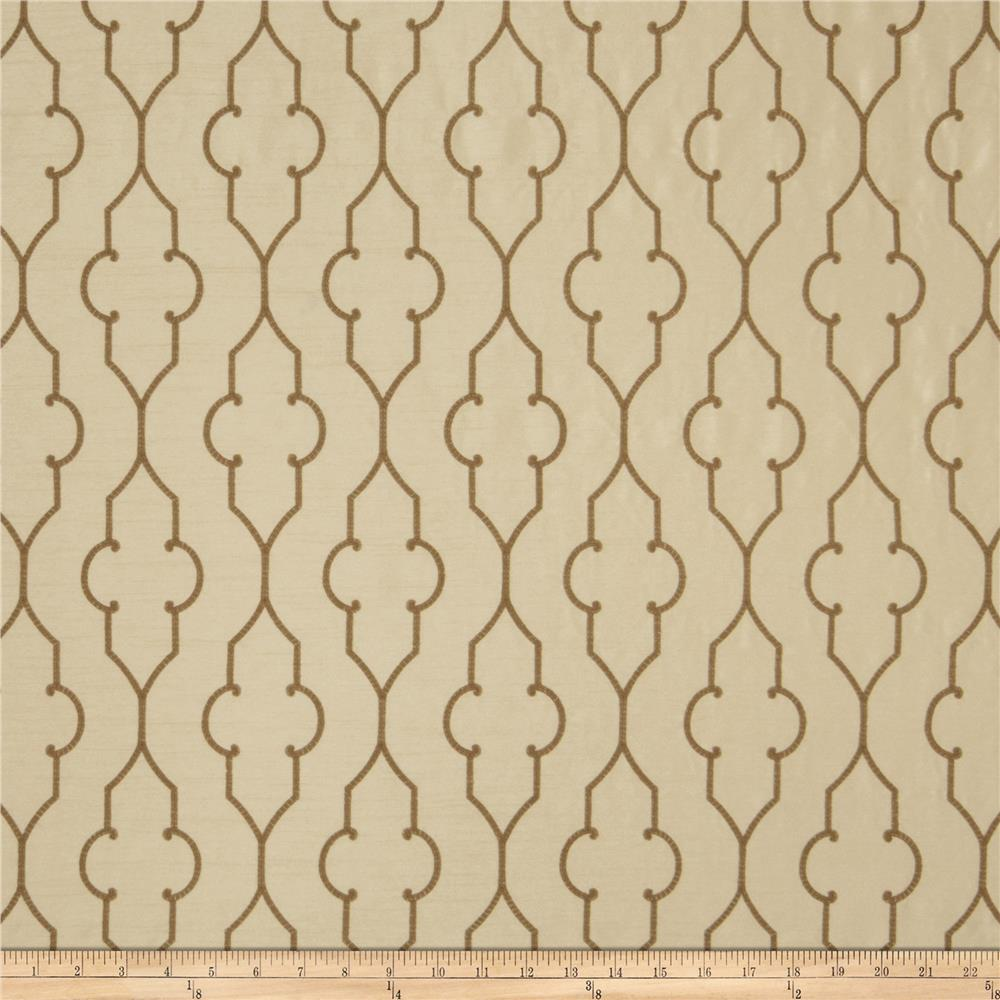 Fabricut Akers Lattice Faux Silk Camel