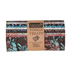 "Timeless Treasures Tonga Treats Batik Topaz 10"" Squares Multi"