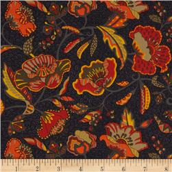 Liberty of London Tana Lawn Poppyseed Dreams Grey/Orange