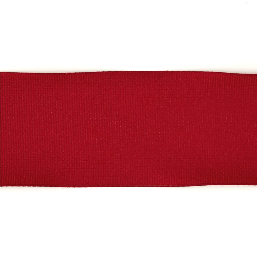 "2"" Grosgrain Wired Ribbon Red"
