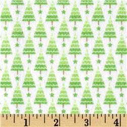 Riley Blake Home for the Holidays Flannel Tree Green