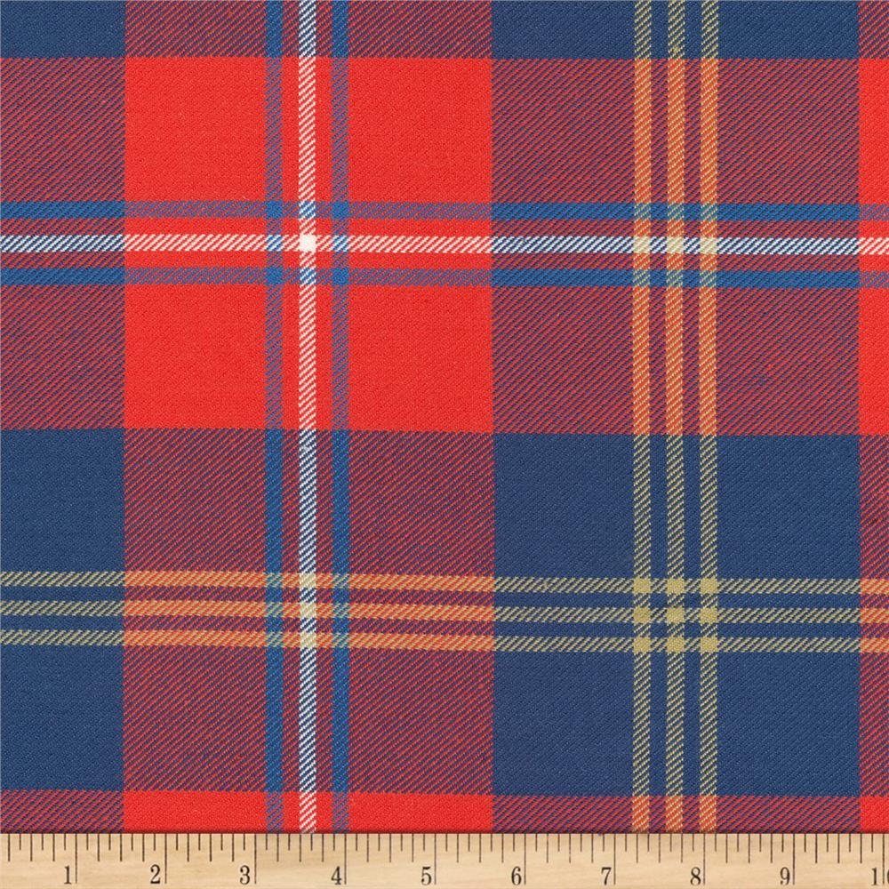 kaufman grizzly plaids 6 6 oz twill plaid large plaid red. Black Bedroom Furniture Sets. Home Design Ideas