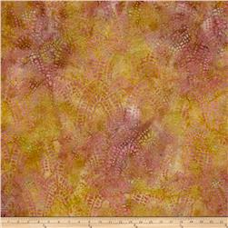 Indian Batik Arches Rose/Sand