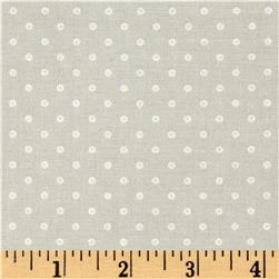 "Basically Wide 108"" Quilt Back Dots Grey"