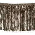 "Fabricut 9"" Mountain Resort Bullion Fringe Natural"