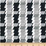 Designer Stretch Jersey Knit Mod Plaid Black/White