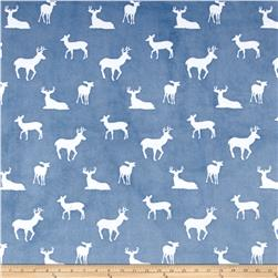 Shannon Premier Prints Minky Cuddle Deer To Me Blue