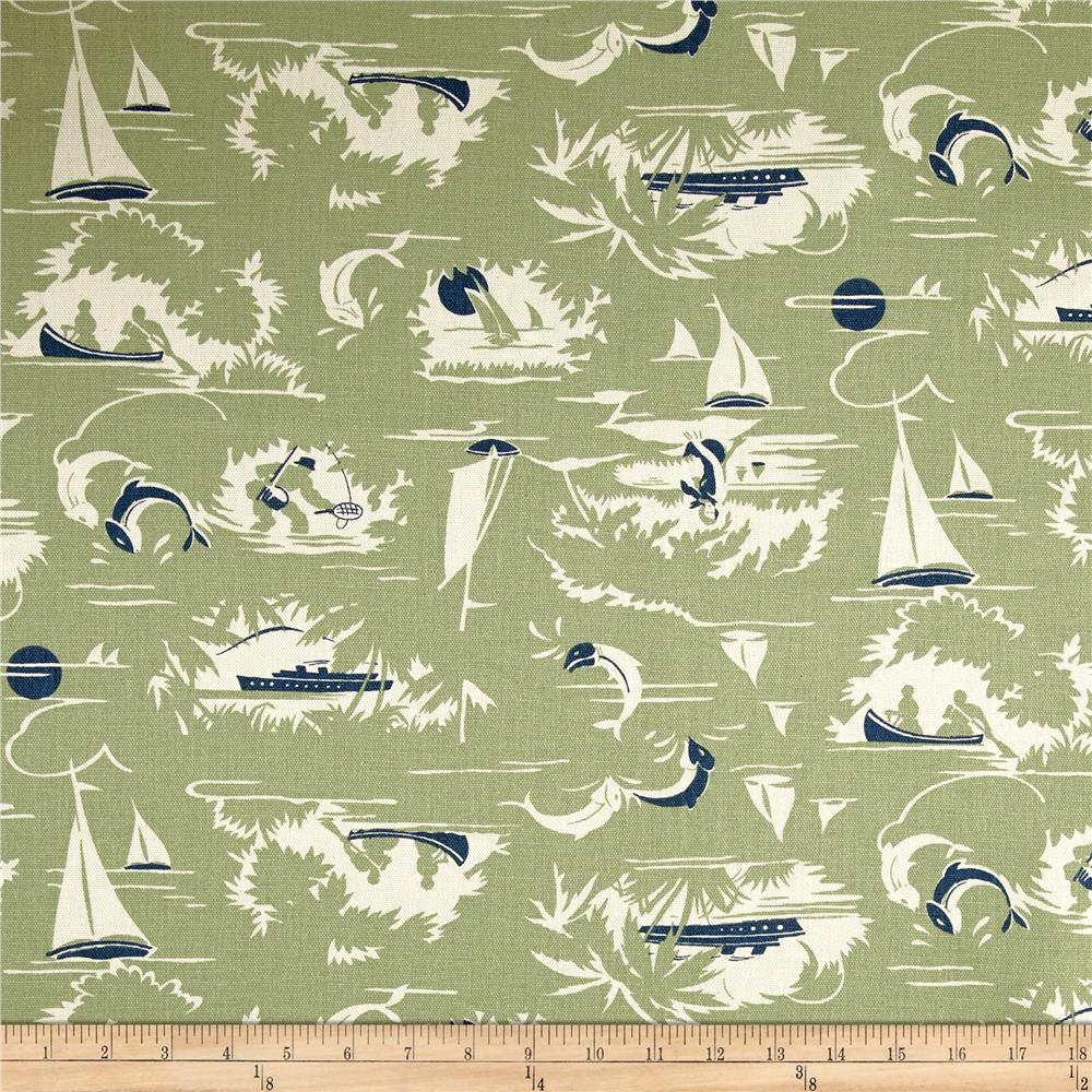 Premier Prints The Bay Formica Green