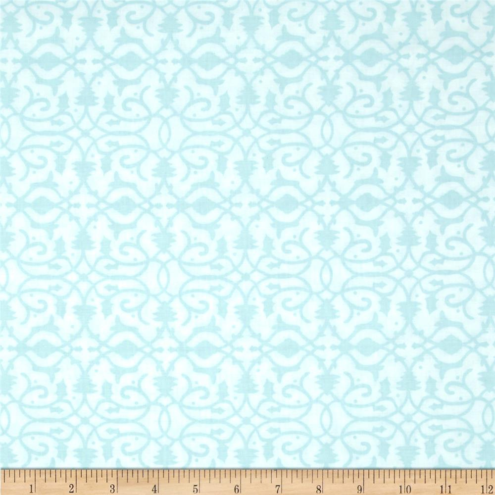 Christmas Pure & Simple Brocade Seafoam