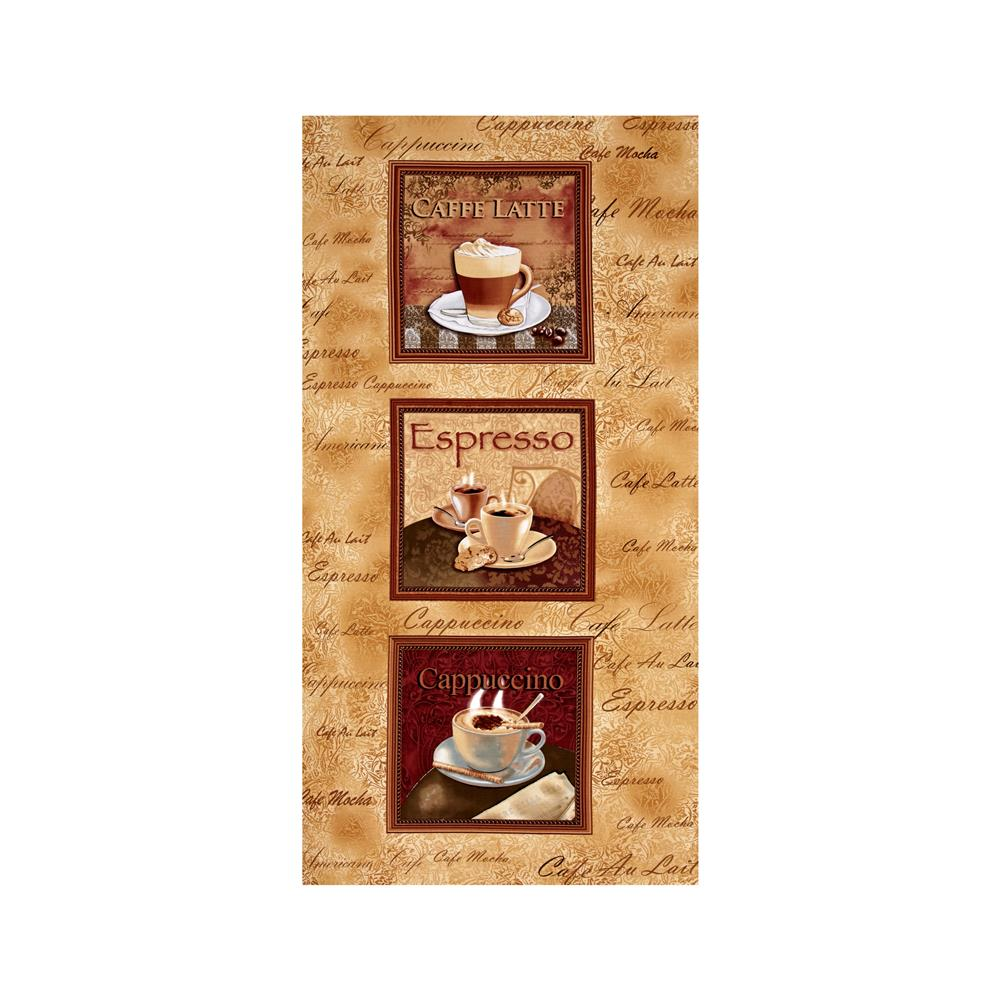 Kanvas Cafe au Lait Coffee 24 In. Panel Caramel