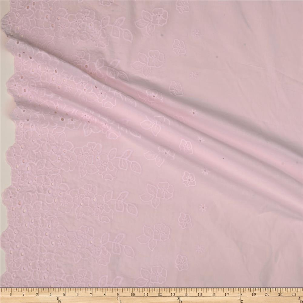 Eyelet Floral Baby Pink