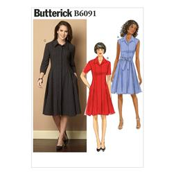 Butterick Misses'/Misses' Petite Dress and Belt Pattern B6091 Size B50