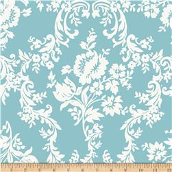 Riley Blake Lost and Found 2 Home Decor Damask Aqua