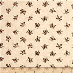 Moda Under the Mistletoe Tiny Holly Linen