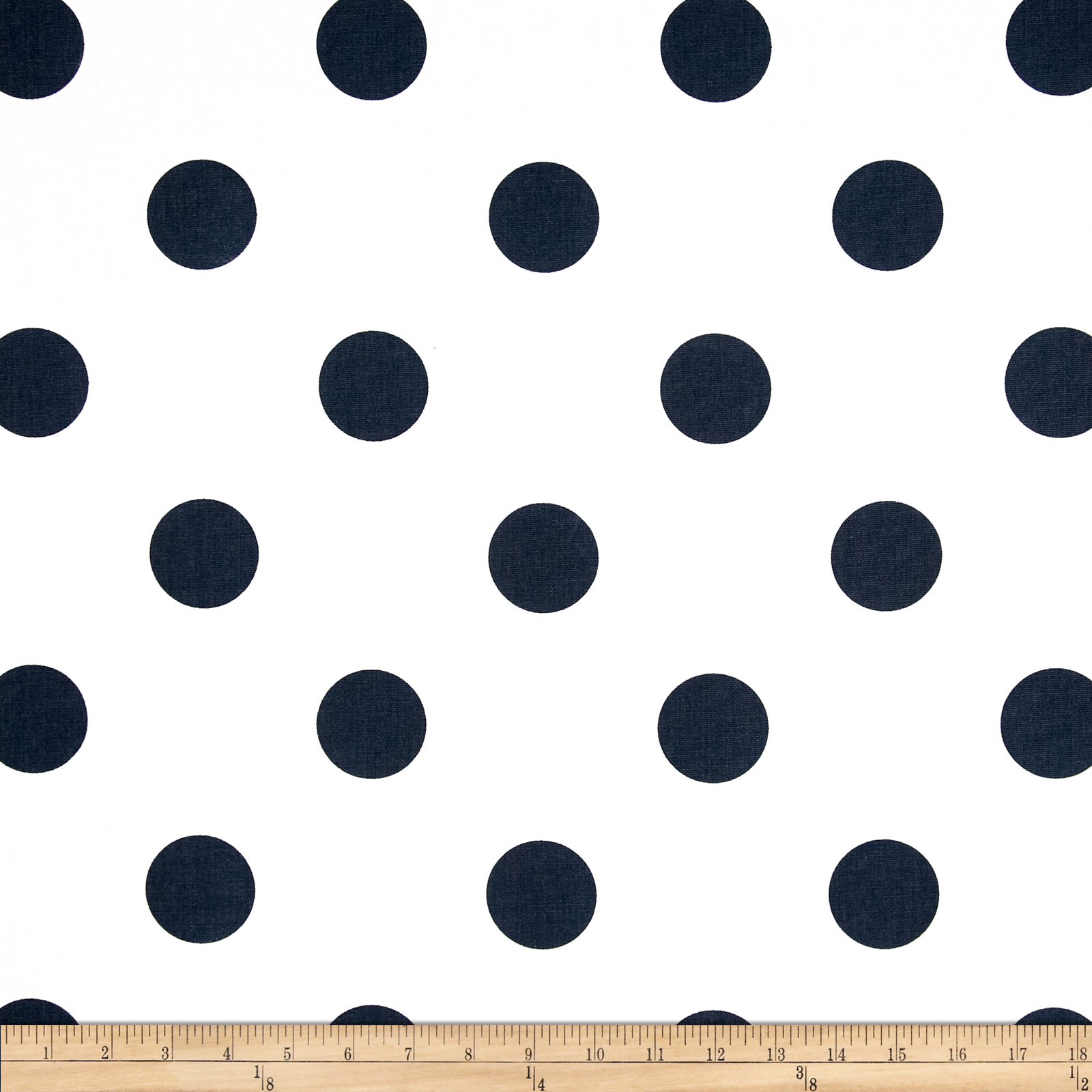Premier Prints Oxygen Dots White/Navy Fabric