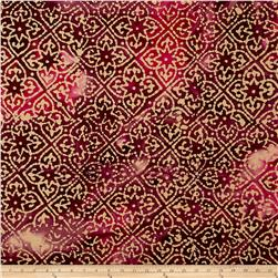 Indian Batik Mirage Patch Wine /Fuchsia