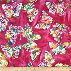 Indian Batik Caledonia Butterfly Pink