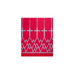 ITY Jersey Knit Cross Double Border Print Hot Pink/Aqua