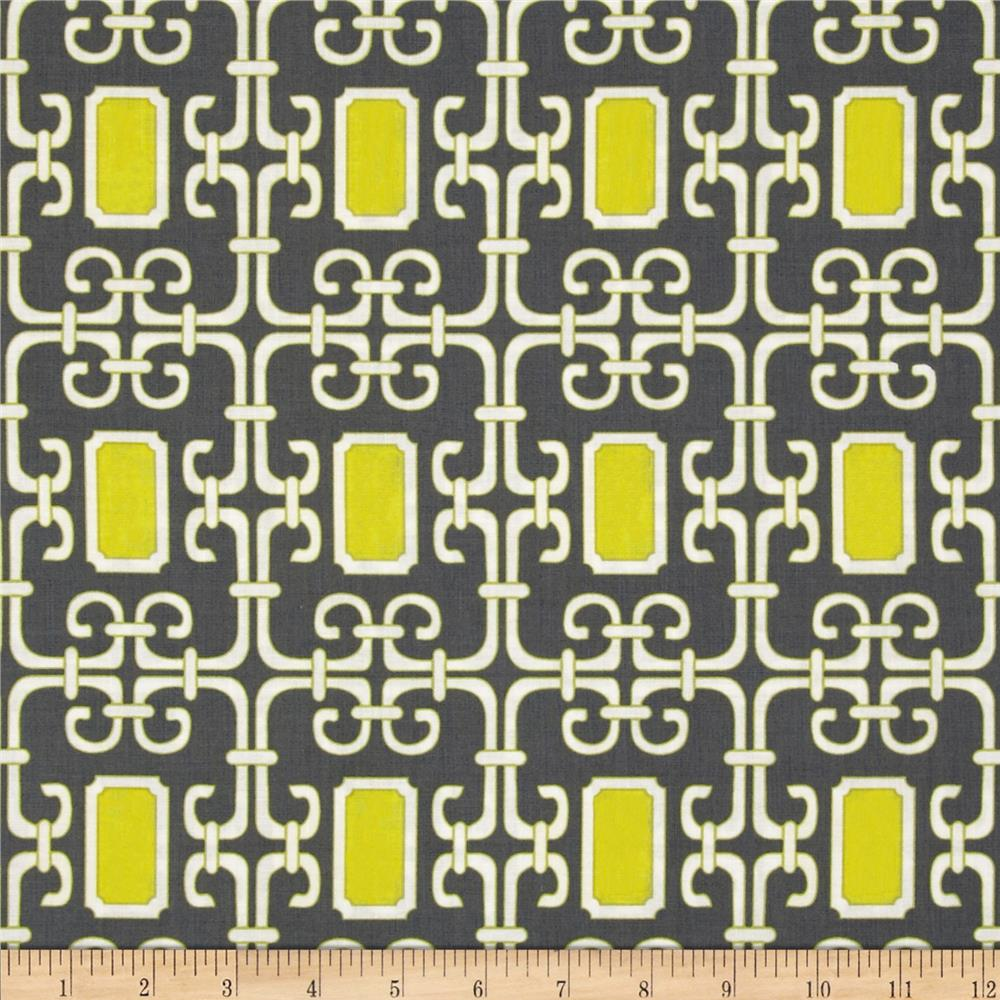 Michael Miller Pastel Pop Citron Grey Lauren Citron