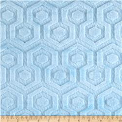 Premier Prints Embossed Geo Cuddle Baby Blue Fabric