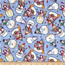Jim Shore Snowmen Packed Snowmen Blue