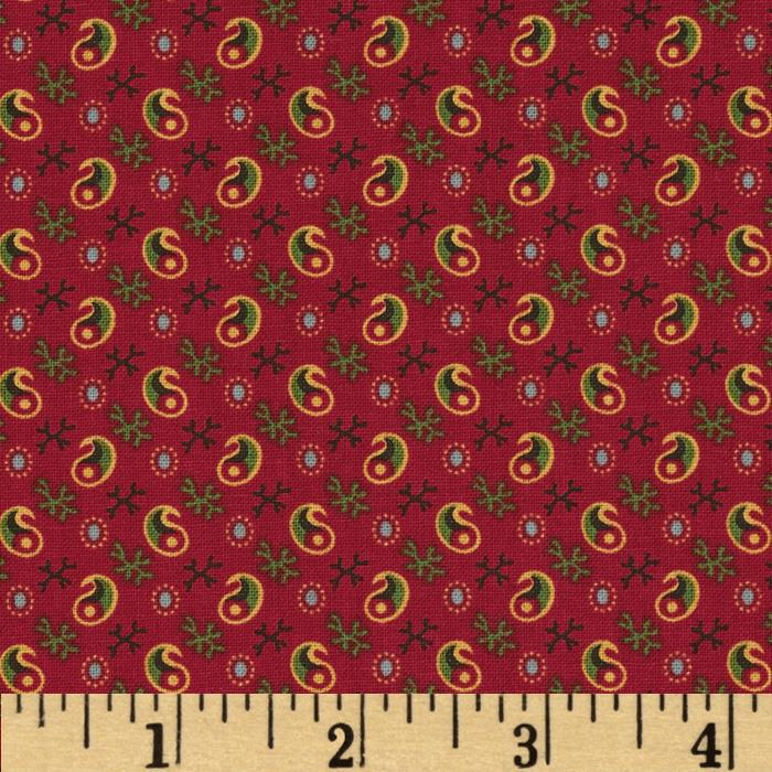 Party of Twelve Small Paisley Turkey Red