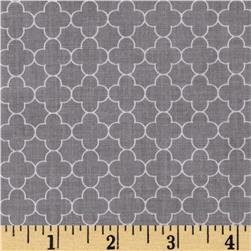 Riley Blake Mini Quatrefoil Gray