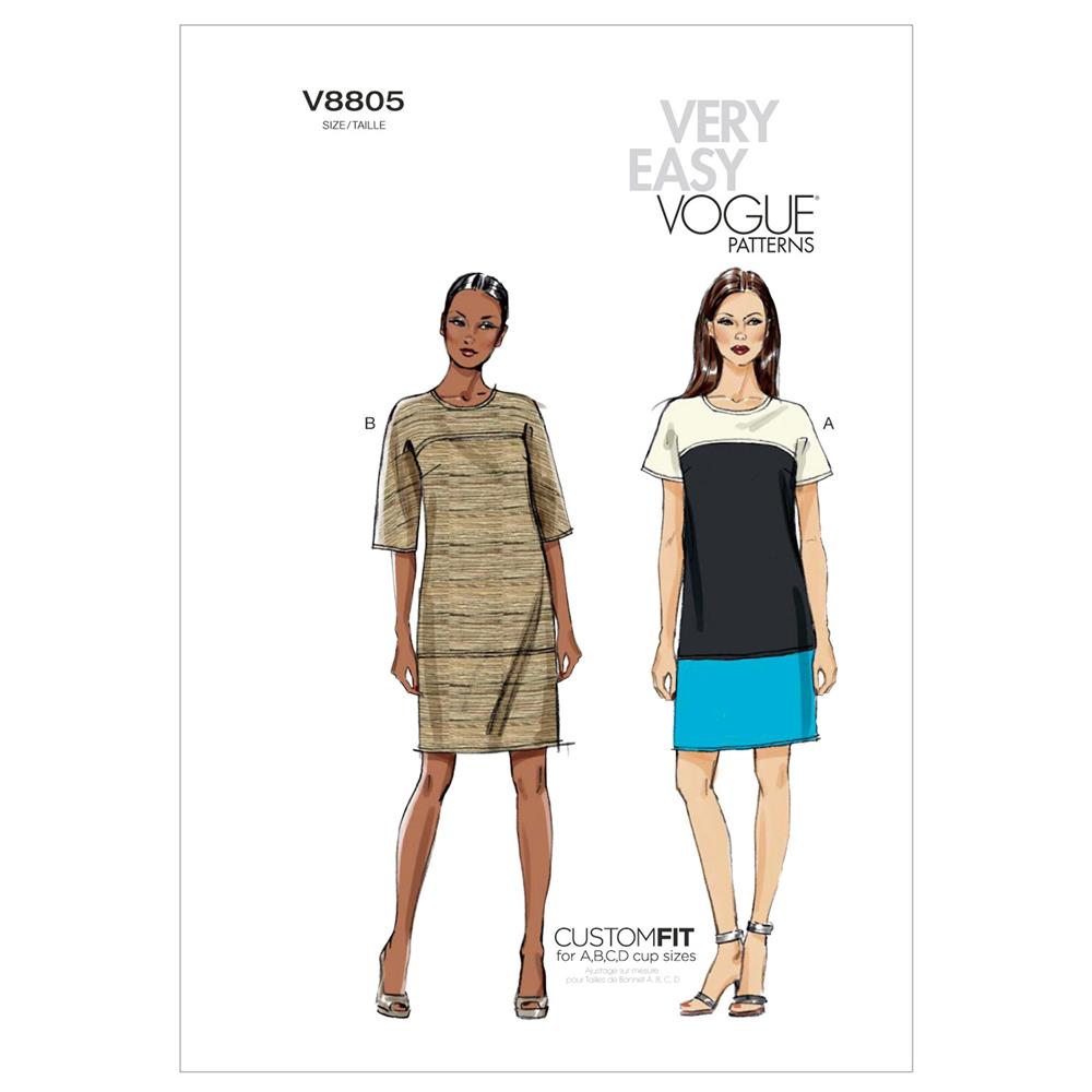 Vogue Misses' Dress Pattern V8805 Size B50
