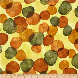 Shades of the Season 6 Metallic Autumn Leaves Scattered Jewel Light Green