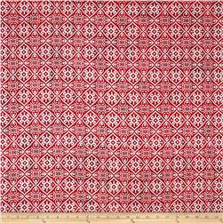 Indian Batik Montego Bay Patchwork  Red/Silver