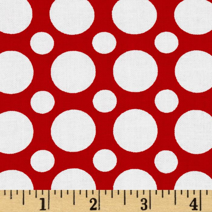 Kaufman Spot On Large Dot Red