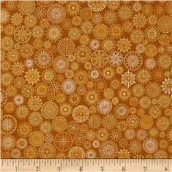 Winter's Grandeur Metallic Small Medallions Gold