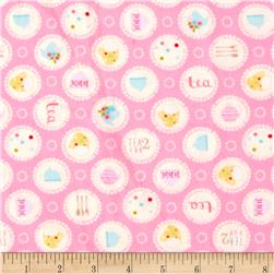 Garden Party Circles Pink Fabric