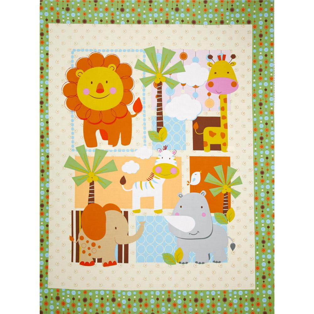 Jungle Boogie Panel Animals Multi