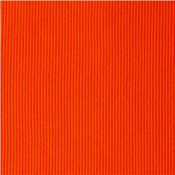 Rib 2x1 Knit Solid Neon Orange