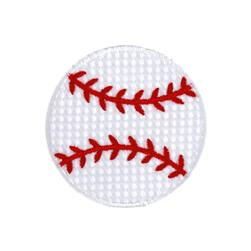 Baseball Large Applique White