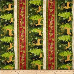 Peace On Earth Repeating Stripe Multi Fabric