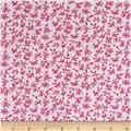 Newcastle Flannel Morning Glory Floral Pink