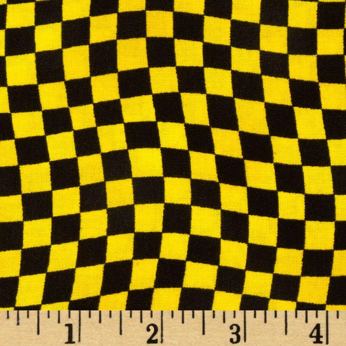 Hot Rods Ride Again Checker Yellow/Black